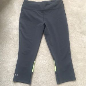 Under Armour Gray and yellow capris
